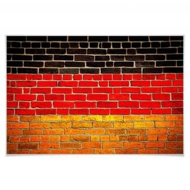 Poster German flag wall