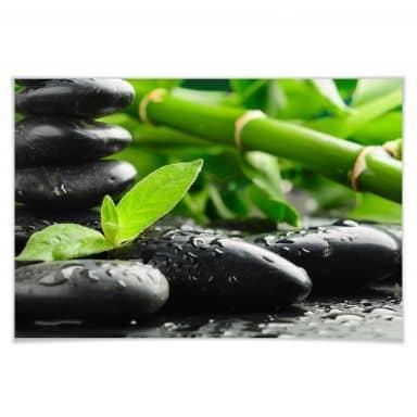 Poster Black Zen Stones