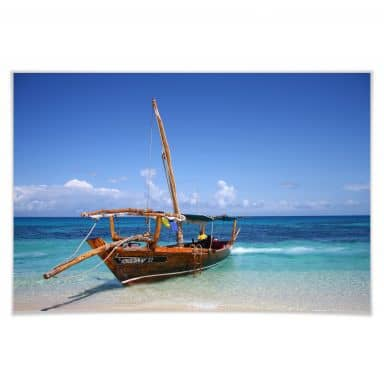 Poster Caribbean Sailboat