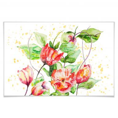 Poster Toetzke - Gartenblumen