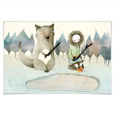 Poster Loske - Das kleine Inuitmädchen und der Wo