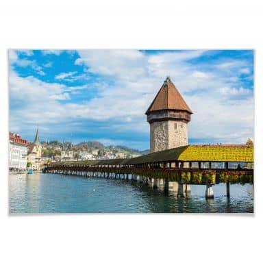 Poster Holzbrücke in Luzern