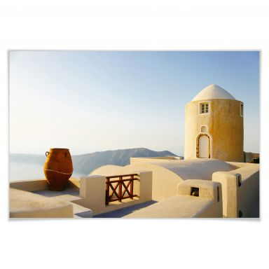 Poster Mediterrane Aussicht