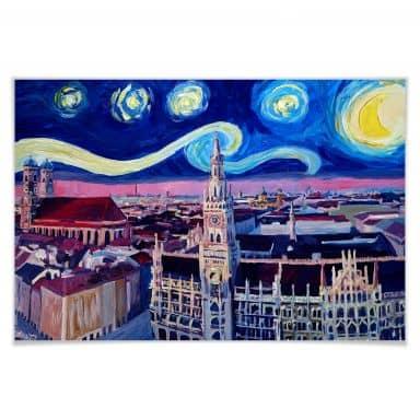 Poster Bleichner - München bei Nacht
