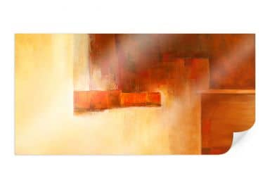 Poster Schüßler - Orange-Brown Balance
