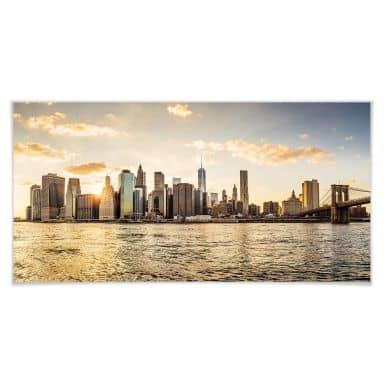 Poster Sunset in Manhattan