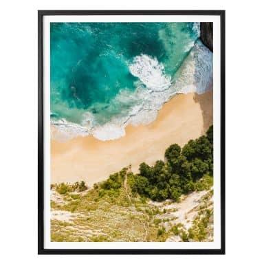 Poster Colombo - Strandblick von oben - Hochformat