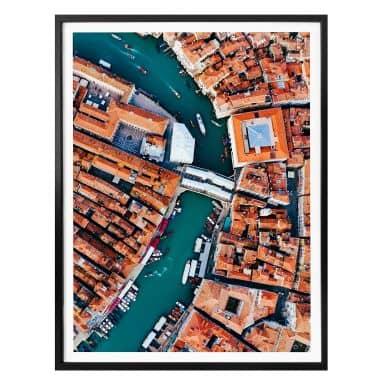 Poster Colombo - Venise vue du ciel - Portrait