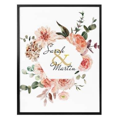 Personalisiertes Poster Blumenkranz