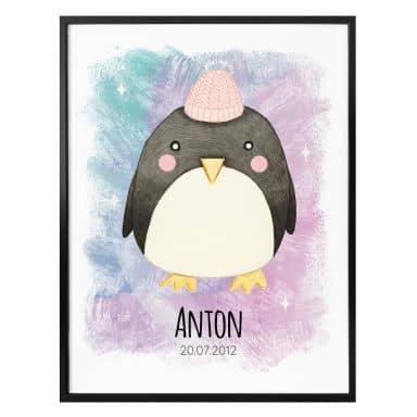 Personalisiertes Poster Loske -  Pinguin