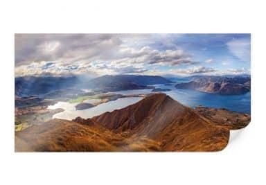 Poster Yan  - Aussicht vom Roys Peak - Panorama