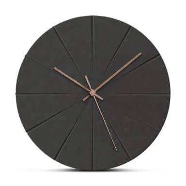 Orologio in legno MDF – Rotondo nero Ø29 cm