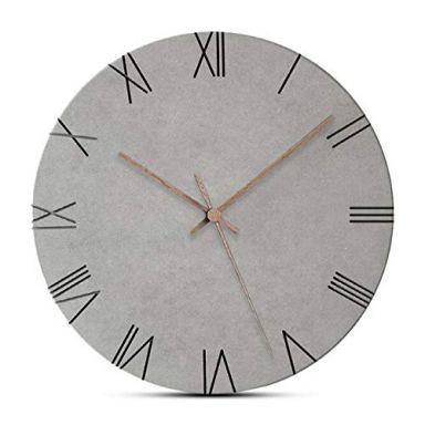 MDF Clock Grey Ø 29 cm