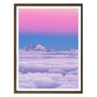 Poster Krivec - Pink in the sky