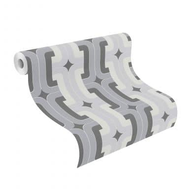 Rasch Tapete HotSpot modern Grau, Silber, Schwarz