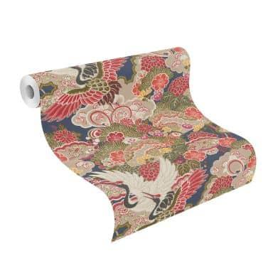 Rasch Vliesbehang Kimono nachtblauw