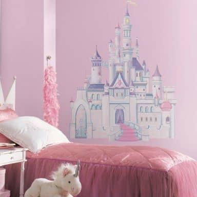 Wandsticker Disney Princess - Maxi Sticker Schloss mit Glitzer
