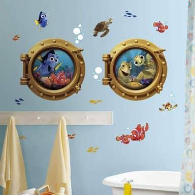 Wandsticker Disney Findet Nemo - Maxi Set Bullaugen 19-teilig