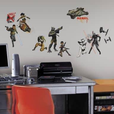 Sticker murale Star Wars - Ribelli effetto fluorescente