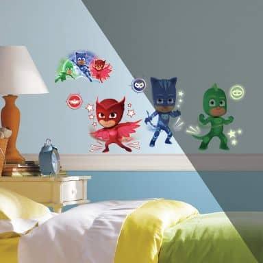 Wandsticker PJ Masks mit Leuchteffekt