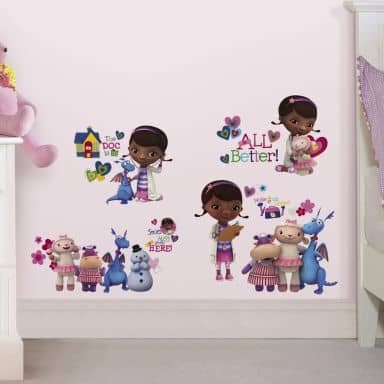 Muursticker set Disney Doc McStuffins & Friends