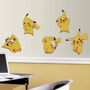 Wandsticker-Set Pokemon Pikachu