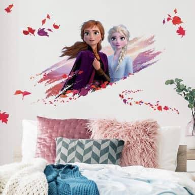 Wandsticker Die Eiskönigin 2 - Maxi Sticker Elsa & Anna