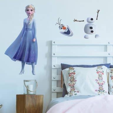 Wandsticker Die Eiskönigin 2 - Maxi Sticker Elsa &Olaf