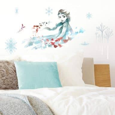 Wandsticker-Set Die Eiskönigin 2 - Elsa in wasserfarben