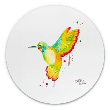 Alu-Dibond Buttafly - Kolibri - Rund