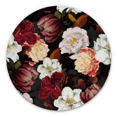 Alu-Dibond UN Designs - Blumenarrangement - Rund