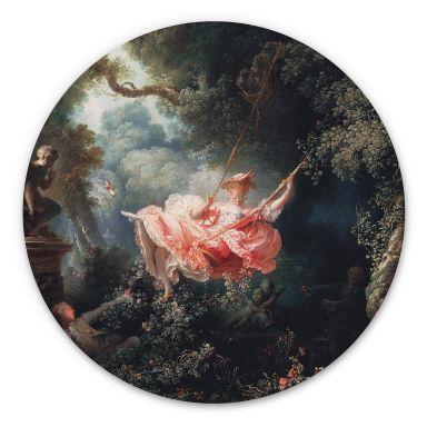 Alu-Dibond Fragonard - Die Schaukel - Rund