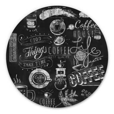Wandcirkel World of Coffee