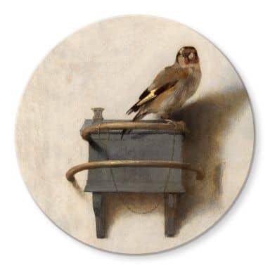 Glasbild Fabritius - Der Distelfink - Rund