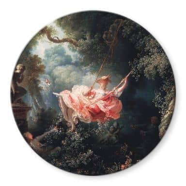 Glasbild Fragonard - Die Schaukel - Rund