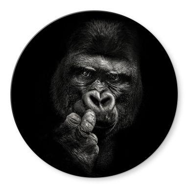 Glasbild Meermann - Der Gorilla - Rund