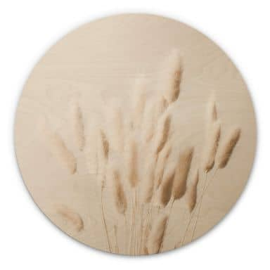 Wandcirkel Hout 1X Studio - Dried Grass