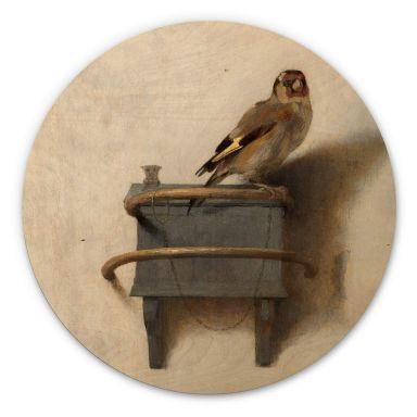 Holzbild Fabritius - Der Distelfink - Rund