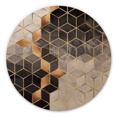 Wandcirkel Hout Fredriksson - Smoky Cubes