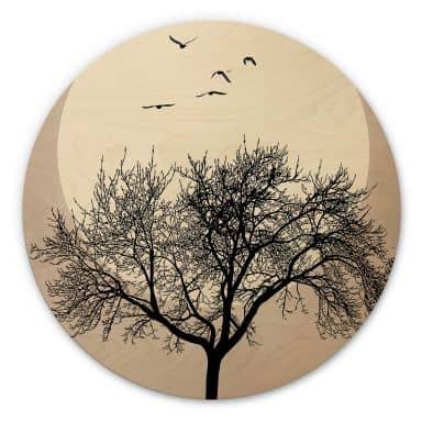 Stampa su legno Kubistika - Invernale