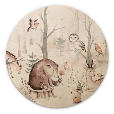 Wood Circle Kvilis - Forest Friends