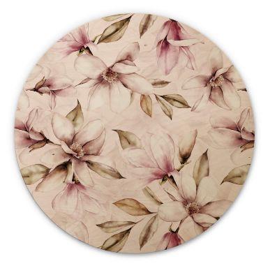Holzbild UN Designs - Soft Magnolia - Rund