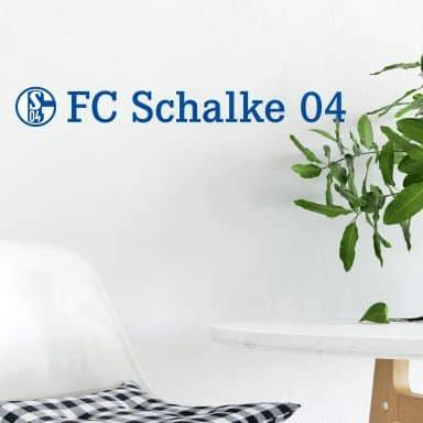 Wandtattoo Schalke 04 Logo mit Schriftzug