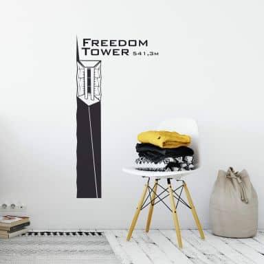 Wandtattoo Freedom Tower