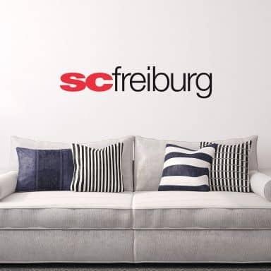 Wandtattoo SC Freiburg Schriftzug