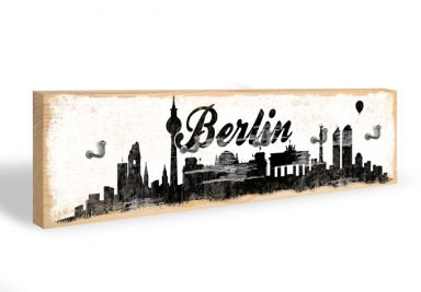 Key Holder - Berlin Skyline 02 + 5 Hooks