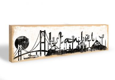 Key Holder - Istanbul Skyline + 5 Hooks