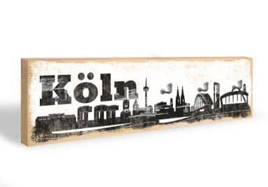 Schlüsselbrett Köln Skyline + 5 Haken