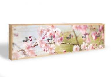 Key Holder - Cherry Blossoms + 5 Hooks