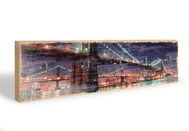 Ponte di Manhattan di notte 02 + 5 ganci